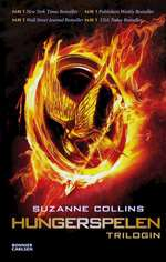 Omslagsbild till Hungerspelen trilogin.