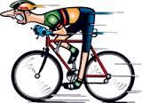 Tecknad racercyklist