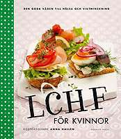Omslagsbild till LCHF för kvinnor.