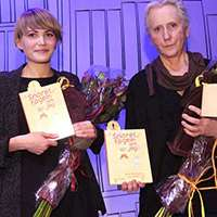 Augustprisvinnarna Ellen Karlsson och Eva Lindström. Foto: Sören Andersson