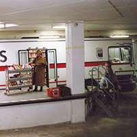Uppsalas biblioteksbuss vid lastkajen. Foto: Rolf Hamilton