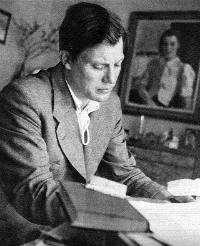 Harry Martinson. Bildkälla: Veckojournalen 1943 (Bild licensierad under Public domain via Wikimedia Commons)
