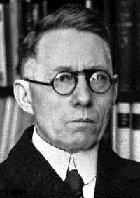 Johannes Vilhelm Jensen 1944. Bildkälla: Nobel Foundation (Bilden licensierad under Public domain via Wikimedia Commons)