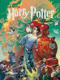 Omslagsbild till Harry Potter och de vises sten.