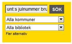 Sökrutan på Bibli.se.
