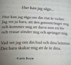 Dikt av Karin Boye