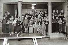 Många barn och ungdomar i Tärnsjö bordtennisklubb från ca 1950