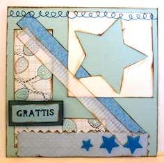 Papperskort med mönster