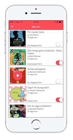 Appen Biblio på en iPhone