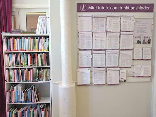 Mini-infoteket på Tierps bibliotek