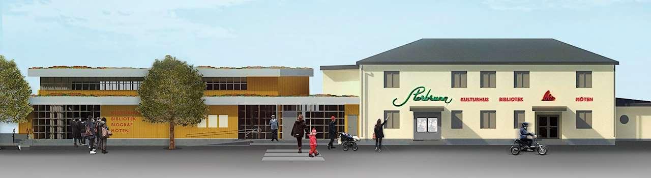 rendering av nya biblioteket i Östhammar