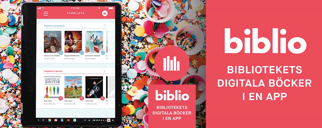 Biblio - Bibliotekets digitala böcker i en app